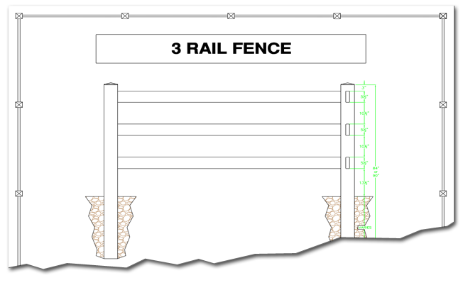 Three Rail Farm Fence Amp 3 Rail Hdpe Fencing For Farms And